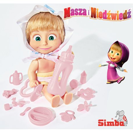 Simba Masza W Stroju Dziecka z Akcesoriami krzesełko do karmienia