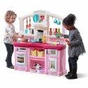 Step2 Elektroniczna duża Kuchnia dla dziecka Różowa 42 akcesoria zestaw