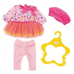 Sukienka z leginsami dla lalki Baby Born 43 cm + berecik