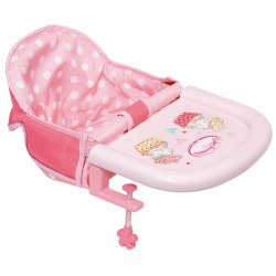 Krzesełko do karmienia dla lalki Baby Born 43 cm montowane do stołu