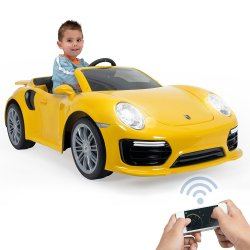 Porsche 911 Samochód elektryczny Turbo S Żółte 6V Injusa