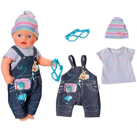 Baby Born Jeansowe Ubranko ze Spodenkami de Luxe
