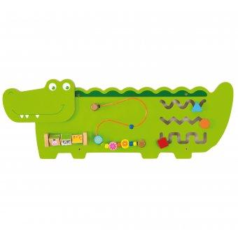 Tablica Edukacyjna Manipulacyjna Sensoryczna Drewniana Viga Toys Krokodyl Certyfikat FSC