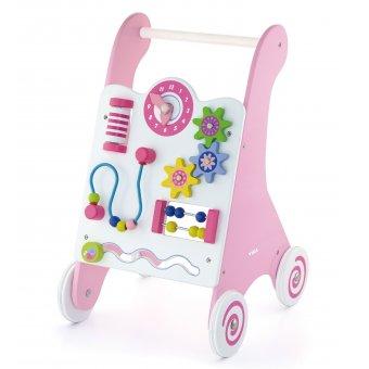 Drewniany Pchacz Edukacyjny dla dzieci Viga Toys Różowy