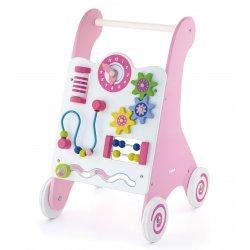 Chodzik dla dzieci Pink drewniany panel edukacyjny Viga Toys