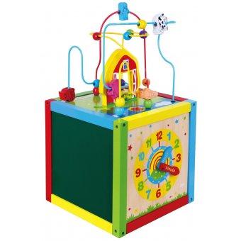 Drewniana Edukacyjna kostka Sześcian 5w1 Viga Toys Activity Box