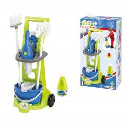 Ecoiffier Wózek sprzątający z akcesoriami Clean Home 8 elementów