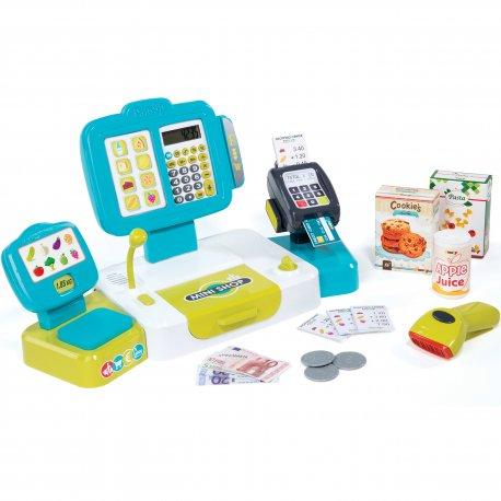 Elektroniczna Kasa Sklepowa z Kalkulatorem 27 Akc. Dla Dzieci Smoby