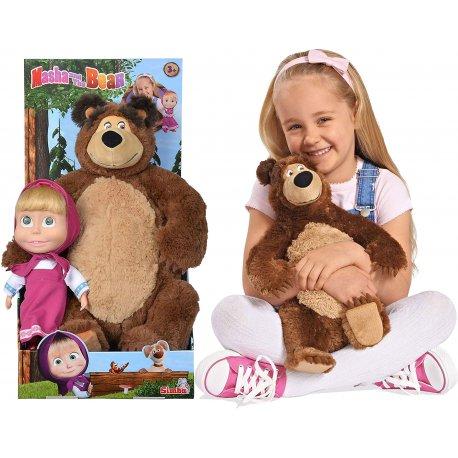 Masza i Niedźwiedź gwiazdkowy zestaw pluszowy Lalka maskotka miś Simba