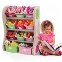 Różowy Organizer Regał z Pojemnikami Dla Dzieci Step2