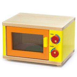 Drewniana Mikrofalówka dla dzieci Pokrętła Otwierane drzwi Viga Toys
