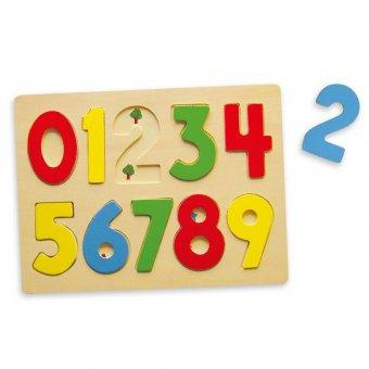 Puzzle Drewniane Edukacyjne Układanka Cyferki 123 Viga Toys
