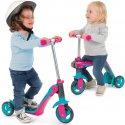 Smoby 2w1 Hulajnoga jeździk regulowana trójkołowa różowo-niebieska