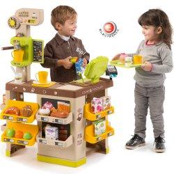 Coffe Shop cukiernia Smoby sklepik Elektroniczny 63 akc