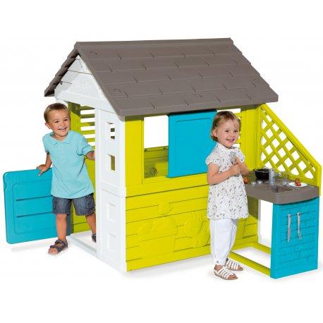 Pretty Domek Ogrodowy Smoby Dla Dzieci z Kuchnią