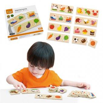 Drewniane Puzzle Logiczne Viga Toys 24 Elementy