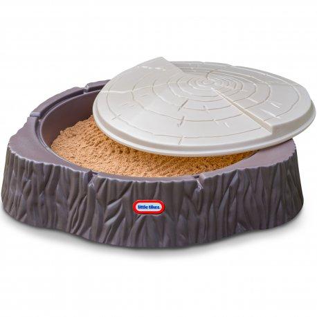 Little Tikes Duża Piaskownica Pień Drewna Basen z Pokrywą