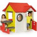 Domek Ogrodowy dla Dzieci Smoby My House Ze Stolikiem interaktywny + zestaw narzędzi ogrodowych