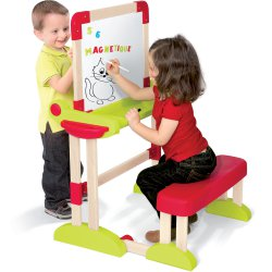 Smoby drewniana Tablica magnetyczna - Stolik wielofunkcyjny reg. siedzenie