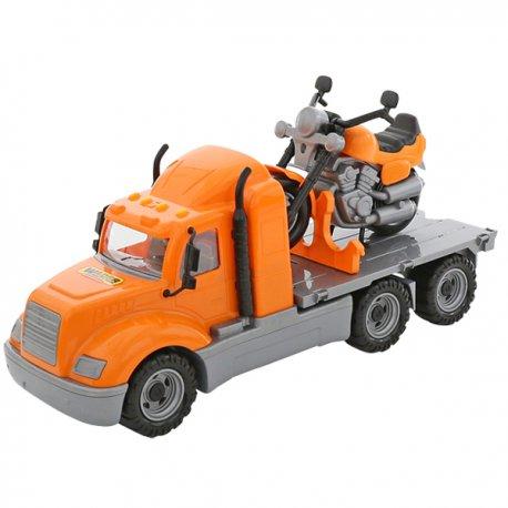 Wader Duża Ciężarówka Laweta 53 cm + drugi pojazd Motor