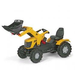 Rolly Toys Duży Traktor JCB z Łyżką regulowane siedzenie Nakładki na Koła