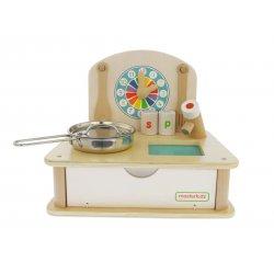 Drewniana Mini Kuchnia Dla Dzieci Masterkidz Moja Pierwsza Kuchenka + Akcesoria