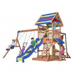 Ogromny Drewniany Plac Zabaw Cedrowy Northbrook Backyard Discovery Step2