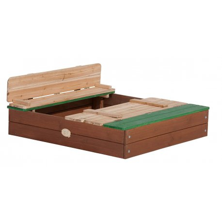 Drewniana piaskownica z ławeczkami Ella Sandpit AXI
