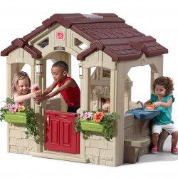 Duży Domek Ogrodowy Step2 Dla Dzieci z Ławeczkami