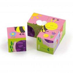 Układanka Drewniana Puzzle Owady 4 Klocki 6 Obrazków Viga Toys
