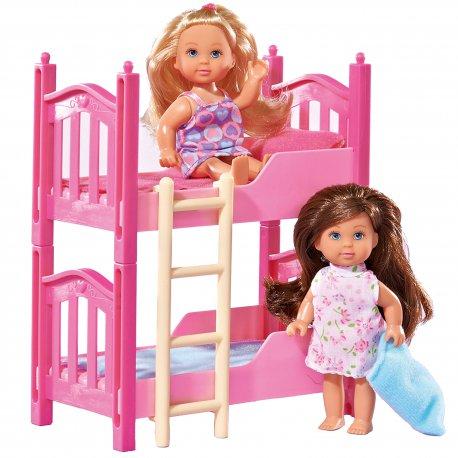 Simba Lalka Evi z piętrowym łóżkiem 2 laleczki