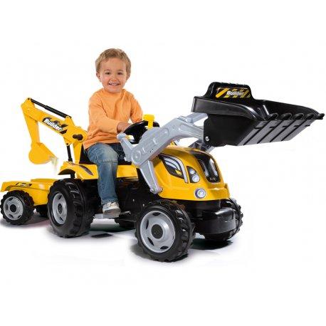 Traktor Na Pedały z Przyczepą MAX Dla Dzieci Smoby Koparka