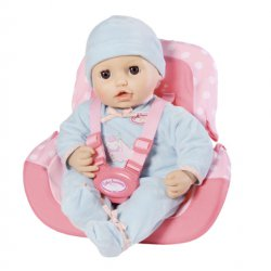 Baby Born Fotelik dla lalki krzesełko rowerowe Różowe