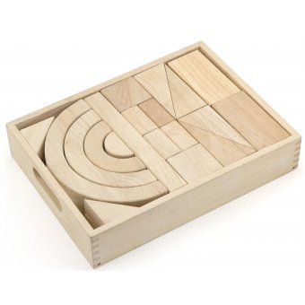 Drewniane klocki Viga Toys 42 elementy