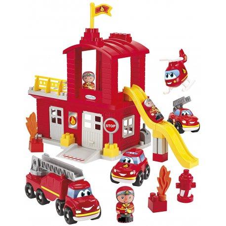 Ecoiffier Abrick Remiza strażacka 4 pojazdy