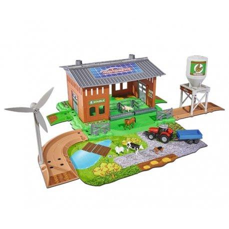 MAJORETTE Creatix Farma Magazyn Traktor Figurki