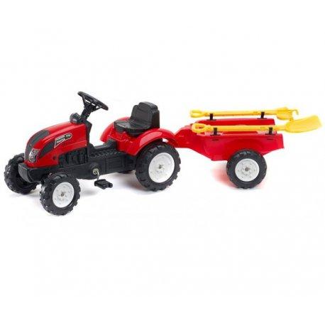 FALK Traktor na pedały Garden Master z przyczepą