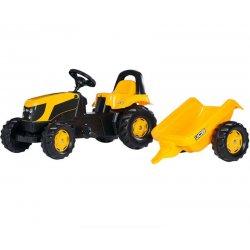 Rolly Toys traktor na pedały JCB Kid z przyczepką