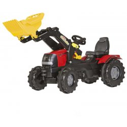Rolly Toys Duży Traktor Case Puma na pedały nakładka wyciszająca + łyżka