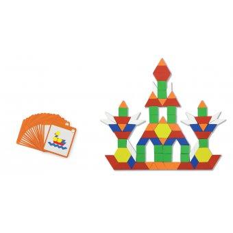 Drewniana Mozaika Geometryczna, Logiczne klocki 102 elementy od Viga Toys