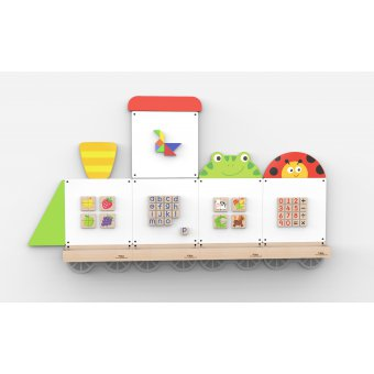 VIGA System tablic edukacyjnych - Pociąg ze zwierzętami