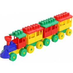 Wader QT Pociąg - Lokomotywa + 3 wagony