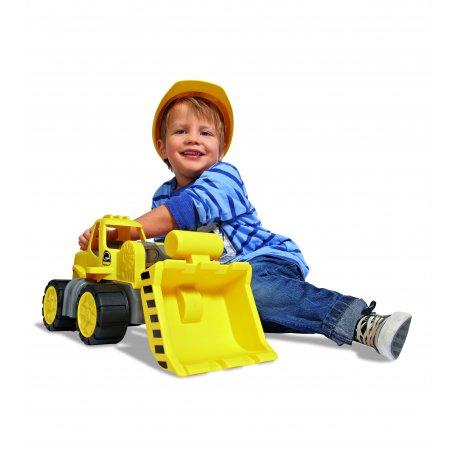 Ciężarówka Ładowarka samochód budowlany do przedszkola ciche koła