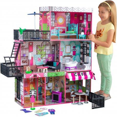 Drewniany domek dla lalek loft Brooklyn KidKraft