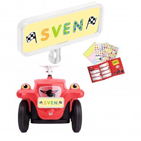 Big tablica Resjestracyjna dla jeździków Bobby Car prawo jazdy