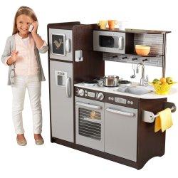 Wielka Drewniana Kuchnia Dla Dzieci Espresso Uptown KidKraft