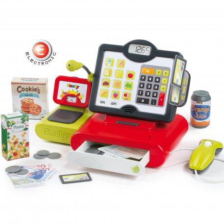 Interaktywna Kasa Sklepowa Dla Dzieci Kalkulator 25 Akc. Smoby