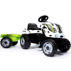 SMOBY Traktor na pedały Farmer XL Krówka z przyczepą - Łaciaty