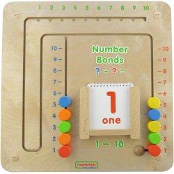 Tablica Gra Edukacyjna Łączenie Liczb + Listwy do montażu