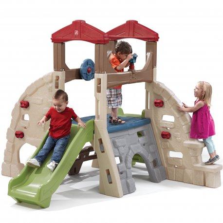 Plac Zabaw Skałka Wspinaczka ze Zjeżdżalnią Dla Dzieci Step2